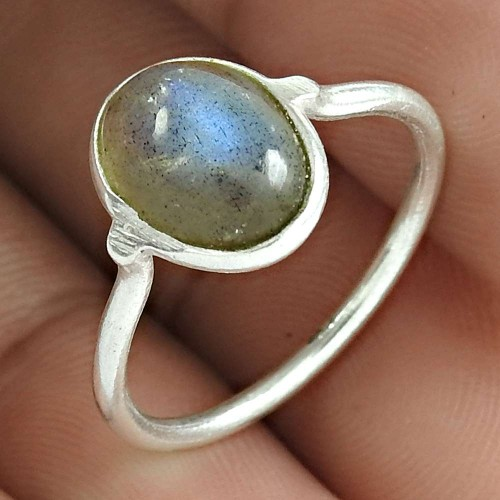 Labradorite Gemstone Ring 925 Sterling Silver Ethnic Jewelry Fabricante