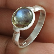 Handy 925 Sterling Silver Labradorite Gemstone Ring Ethnic Jewelry Wholesale