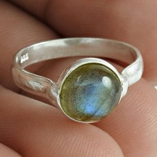 Beautiful 925 Sterling Silver Labradorite Gemstone Ring Jewelry Al por mayor