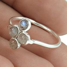 Excellent 925 Sterling Silver Labradorite Gemstone Ring Vintage Jewelry Manufacturer India