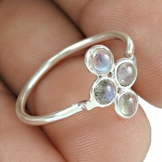 Daily Wear 925 Sterling Silver Labradorite Gemstone Ring Jewelry Großhändler