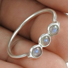 Graceful 925 Sterling Silver Labradorite Gemstone Ring Jewelry Exporter India