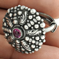 Graceful 925 Sterling Silver Ruby Gemstone Ring Woman Fashion Jewelry
