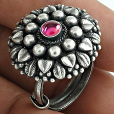 Perfect 925 Sterling Silver Ruby Gemstone Ring Jewellery