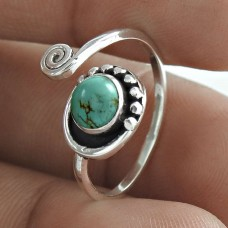 Excellent 925 Sterling Silver Turquoise Gemstone Ring Vintage Jewellery