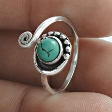 Daily Wear 925 Sterling Silver Turquoise Gemstone Ring Ethnic Jewellery