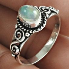 Awesome 925 Sterling Silver Opal Gemstone Ring Jewellery