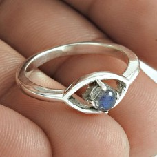 Good Looking 925 Sterling Silver Labradorite Gemstone Ring Antique Jewelry
