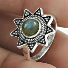 925 Sterling Silver Labradorite Gemstone Beautiful Ring Jewellery