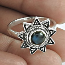 Classic 925 Sterling Silver Labradorite Gemstone Ring Jewellery