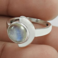 Awesome 925 Sterling Silver Rainbow Moonstone Ring Jewelry Online