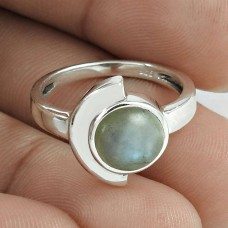 Stunning 925 Sterling Silver Rainbow Moonstone Ring Jewelry