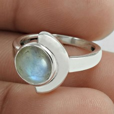 Scrumptious 925 Sterling Silver Rainbow Moonstone Ring Jewelry Wholesale