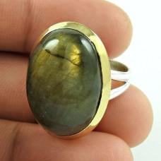Daily Wear 925 Sterling Silver Labradorite Gemstone Ring Jewelry