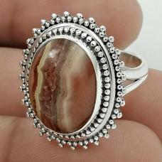Latest Trend 925 Sterling Silver Rhodochrosite Gemstone Ring Size 6 Vintage Jewelry D62
