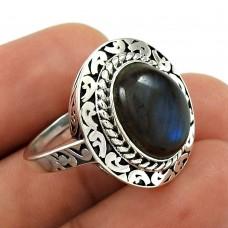 Labradorite Gemstone Ring 925 Sterling Silver Ethnic Jewelry UJ34