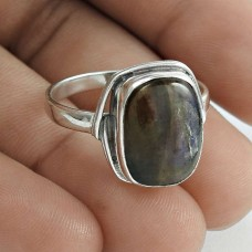 Beautiful 925 Sterling Silver Labradorite Gemstone Ring Size 11 Traditional Jewelry D96