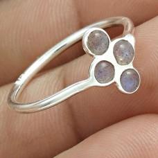 Stunning 925 Sterling Silver Labradorite Gemstone Ring Size 7 Handmade Jewelry F17