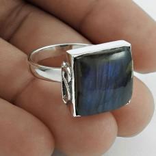 Good-Looking 925 Sterling Silver Labradorite Gemstone Ring Size 8.5 Handmade Jewelry F46