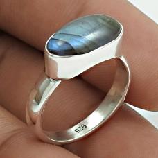 Possessing Good Fortune 925 Sterling Silver Labradorite Gemstone Ring Size 7 Handmade Jewelry I9