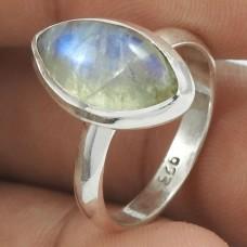 Rainbow Moonstone Gemstone Ring 925 Sterling Silver Tribal Jewelry RF45