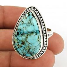 Turquoise Gemstone Ring 925 Sterling Silver Stylish Jewelry UJ51
