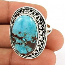 Turquoise Gemstone Ring 925 Sterling Silver Stylish Jewelry ED52