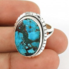 Turquoise Gemstone Ring 925 Sterling Silver Traditional Jewelry UJ54