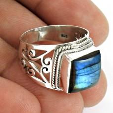 Labradorite Gemstone Ring 925 Sterling Silver Traditional Jewelry RF60