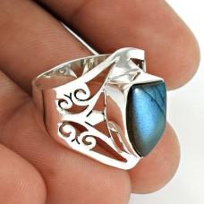Labradorite Gemstone Ring 925 Sterling Silver Traditional Jewelry AZ64