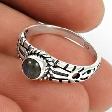 Labradorite Gemstone Ring 925 Sterling Silver Vintage Jewelry PL66