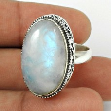 Rainbow Moonstone Ring Size 7 925 Sterling Silver Stylish Jewelry RN56
