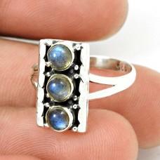 Labradorite Gemstone Ring Size 6 925 Sterling Silver Traditional Jewelry CB16