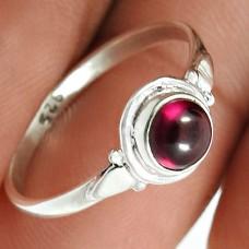 Garnet Gemstone Ring 925 Sterling Silver Stylish Jewelry Y81