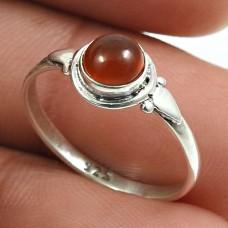 Carnelian Gemstone Ring 925 Sterling Silver Indian Jewelry B82