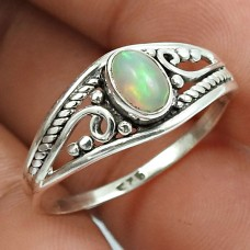 Opal Gemstone Ring 925 Sterling Silver Traditional Jewelry H40