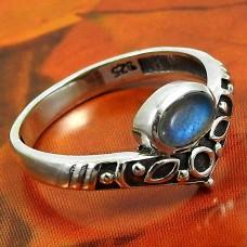 Labradorite Gemstone Ring 925 Sterling Silver Indian Handmade Jewelry O50