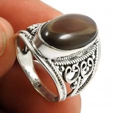 Smoky Quartz Gemstone Ring 925 Sterling Silver Indian Jewelry J59
