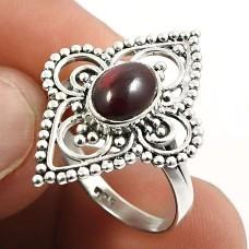 Rainbow Moonstone Gemstone Ring 925 Sterling Silver Ethnic Jewelry Y64