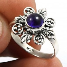 Amethyst Gemstone Ring 925 Sterling Silver Indian Handmade Jewelry E65