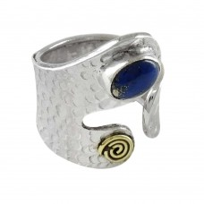 925 Sterling Silver Jewellery Beautiful Lapis Gemstone Ring