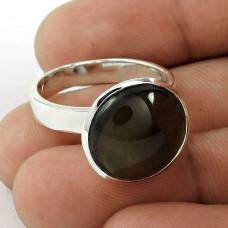 925 Silver Jewellery Traditional Smoky Quartz Gemstone Ring Supplier