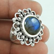 Beautiful! 925 Silver Labradorite Gemstone Ring