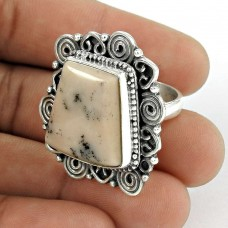 925 Sterling Silver Vintage Jewellery Fashion Pink Opal Gemstone Ring