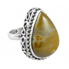 Stunning Natural Rich!! Jasper 925 Sterling Silver Ring