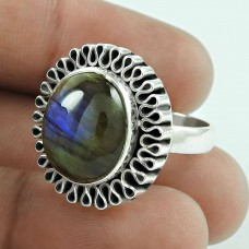 925 Sterling Silver Vintage Jewellery Beautiful Labradorite Gemstone Ring Wholesale