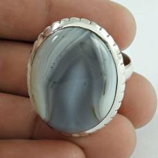 925 Sterling Silver Antique Jewellery Traditional Botswana Agate Gemstone Ring Al por mayor