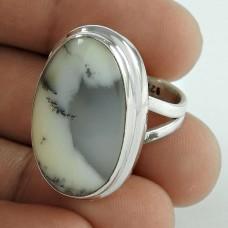 925 Sterling Silver Gemstone Jewellery Fashion Dendritic Opal Gemstone Ring Großhandel