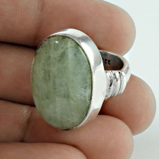 Charming 925 Sterling Silver Aquamarine Gemstone Ring Vintage Jewelry