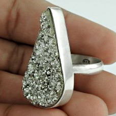 925 Silver Jewellery Rare Druzy Ring
